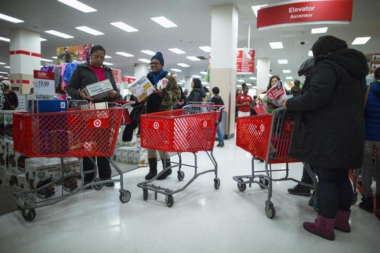 People shop inside a Target store during Black Friday sales in the Brooklyn borough of New York, November 29, 2013. REUTERS/Eric Thayer