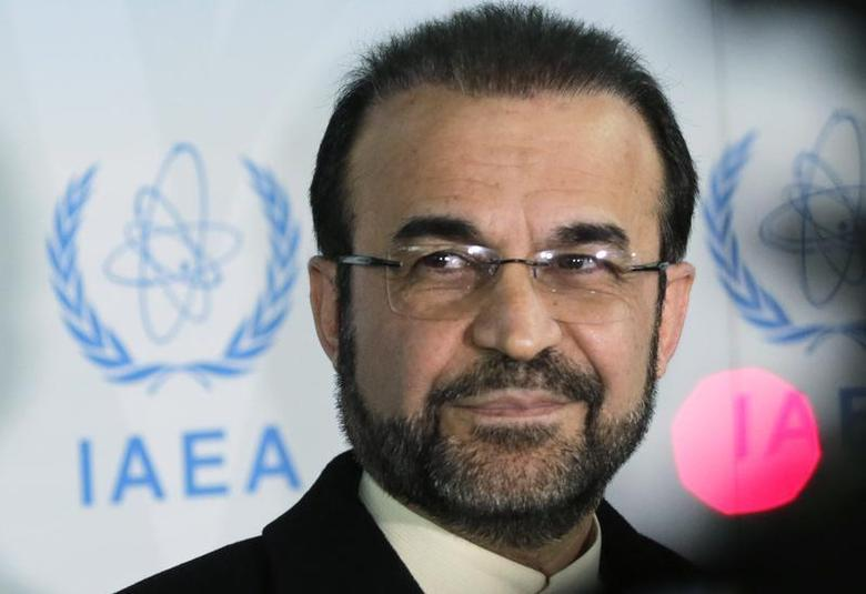 Iran's ambassador to the International Atomic Energy Agency (IAEA) Reza Najafi attends a news conference at the headquarters of the IAEA in Vienna December 11, 2013. REUTERS/Leonhard Foeger