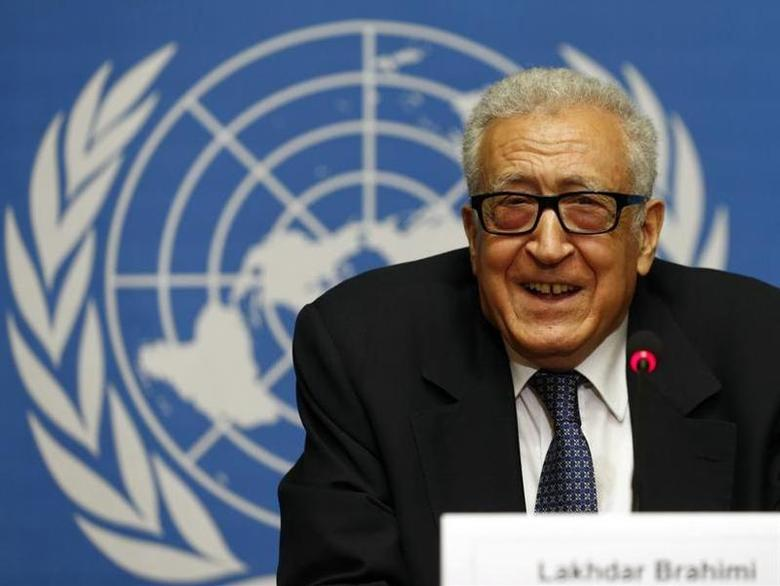 Arab League-United Nations envoy Lakhdar Brahimi addresses a news conference on the situation in Syria at the United Nations European headquarters in Geneva November 25, 2013. REUTERS/Denis Balibouse