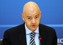 UEFA general secretary Gianni Infantino attends a news conference during the UEFA Executive Committee meeting in Istanbul March 21, 2012. REUTERS/Osman Orsal