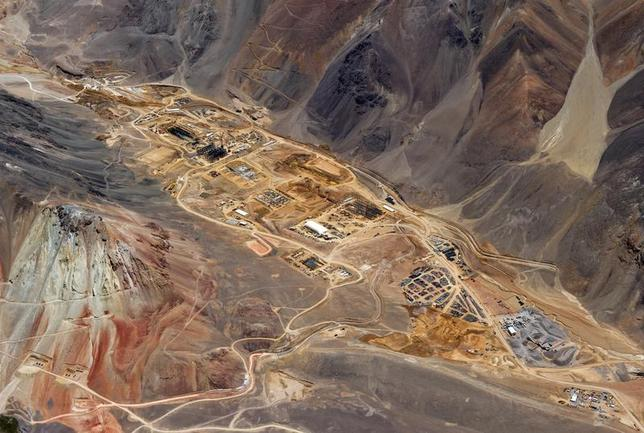 The gold processing plant under construction in Argentina, at Barrick Gold's Pascua-Lama mine site is pictured in this February 2, 2012 handout photo obtained by Reuters July 27, 2012. REUTERS/Barrick/Handout