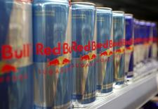 Red Bull drink cans are seen in a supermarket in Vienna March 14, 2013. REUTERS/Leonhard Foeger