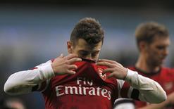 Jogador do Arsenal, Jack Wilshere, é visto após derrota se seu time para o Manchester City, em partida pelo Campeonato Inglês, em Manchester. 14/12/2013 REUTERS/Phil Noble