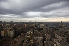 A general view of the stormy sky in Cairo, Egypt December 13, 2013. REUTERS/Mohamed Abd El Ghany