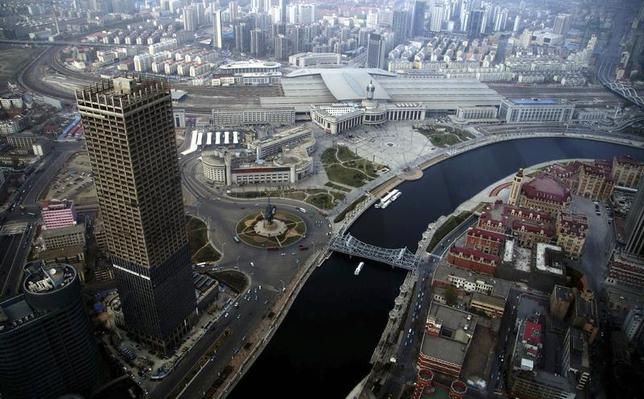 A general view of centre Tianjin taken from Tianjin World Financial Center, April 15, 2013.REUTERS/China Daily