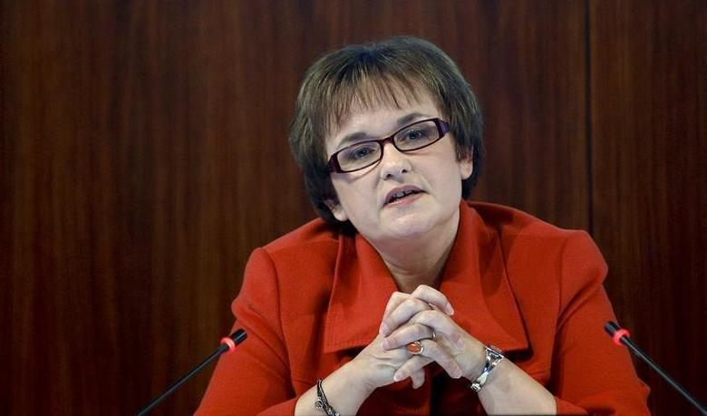 Bundesbank Vice President Sabine Lautenschlaeger speaks during a news conference in Frankfurt November 14, 2012. REUTERS/Lisi Niesner