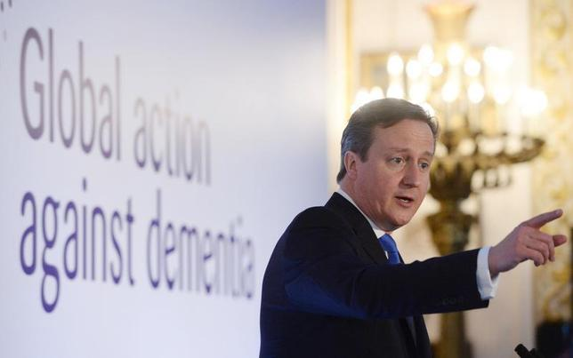 Britain's Prime Minister David Cameron speaks at the G8 Dementia Summit, at Lancaster House in central London December 11, 2013 REUTERS/Stefan Rousseau/Pool