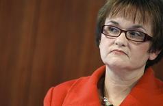L'Allemagne va proposer la candidature de Sabine Lautenschläger, vice-présidente de la Bundesbank, au directoire de la Banque centrale européenne en remplacement de Jörg Asmussen, démissionnaire, selon deux sources proches du dossier. /Photo prise le 14 novembre 2012/REUTERS/Lisi Niesner