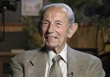 Harold Camping, 89, the California evangelical broadcaster who predicts that Judgment Day will come on May 21, 2011, is seen in this still image from video during an interview at Family Stations Inc. offices in Oakland, California from May 16, 2011. REUTERS/Reuters Television/Files