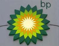 BP logo is seen at a fuel station of British oil company BP in St. Petersburg, October 18, 2012. REUTERS/Alexander Demianchuk/Files