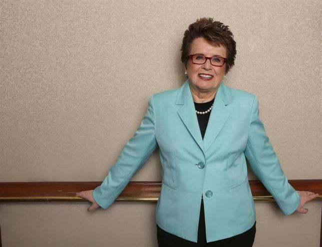 Former tennis player Billie Jean King poses for a portrait while promoting PBS's American Masters series in Beverly Hills, California August 6, 2013. REUTERS/Mario Anzuoni