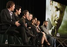 """Cast members and producers of """"The Walking Dead"""" take part in a panel discussion at AMC's TCA Winter Press Tour in Pasadena, California, January 14 2012. REUTERS/Jonathan Alcorn"""