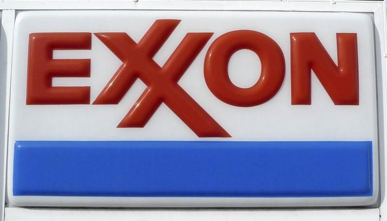 The Exxon corporate logo is pictured at a gas station in Arlington, Virginia January 31, 2012. REUTERS/Jason Reed