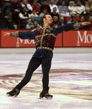 Brian Boitano of the United States skates in the men's technical program at the Goodwill Winter Games in Lake Placid February 17.