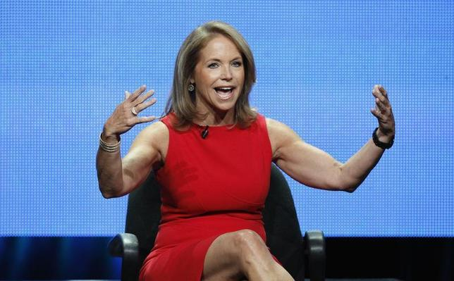 Host Katie Couric speaks at a panel for ''Katie'' during the Disney/ABC Television Group portion of the Television Critics Association Summer press tour in Beverly Hills, California July 26, 2012. REUTERS/Mario Anzuoni