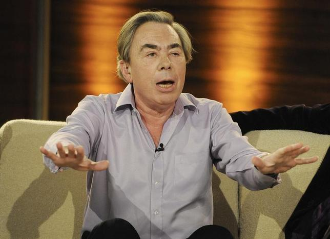 Composer Andrew Lloyd Webber speaks during the German game show ''Wetten Dass'' (Bet it...?) in Salzburg, March 27, 2010. REUTERS/Kerstin Joensson/Pool