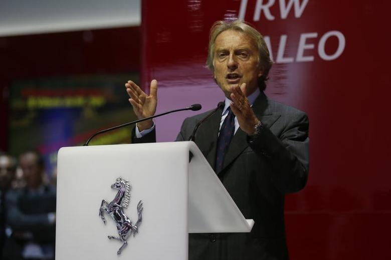 Ferrari Chairman Luca di Montezemolo speaks during a media preview day at the Frankfurt Motor Show (IAA) September 10, 2013. REUTERS/Wolfgang Rattay