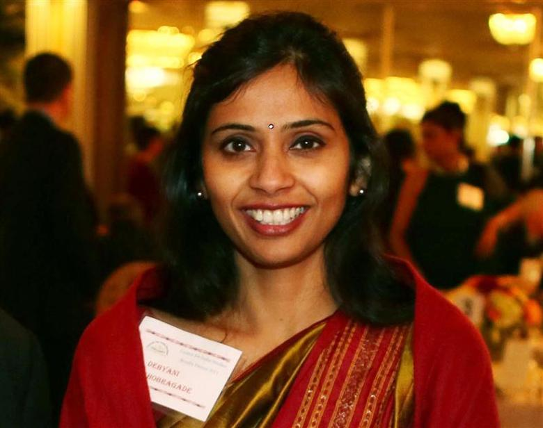 Devyani Khobragade, India's deputy consul general, attends the India Studies Stony Brook University fundraiser event in Long Island, New York, December 8, 2013. REUTERS/Mohammed Jaffer/SnapsIndia