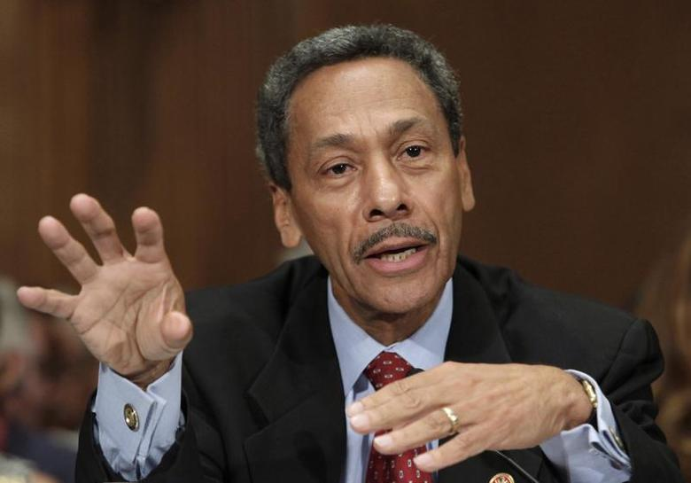Representative Mel Watt testifies before the Senate Banking, Housing and Urban Affairs Committee confirmation hearing to be the regulator of mortgage finance firms Fannie Mae and Freddie Mac on Capitol Hill in Washington June 27, 2013. REUTERS/Yuri Gripas