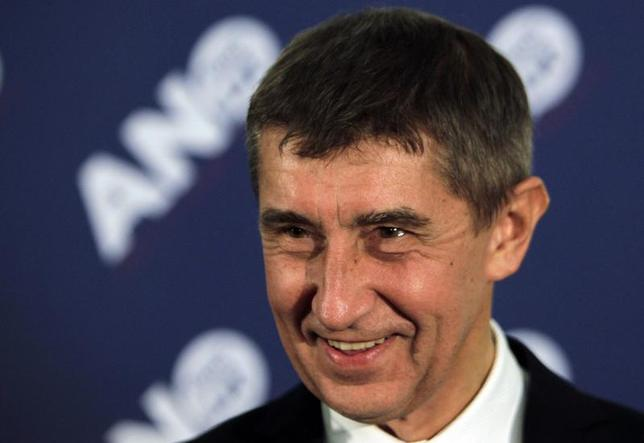 Andrej Babis, leader of the ANO movement, smiles during a news conference at the party's election headquarters after the country's parliamentary election in Prague October 26, 2013. REUTERS/David W Cerny
