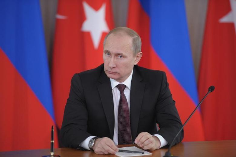 Russia's President Vladimir Putin attends a news conference with Turkey's Prime Minister Tayyip Erdogan (not seen) in Strelna near St. Petersburg, November 22, 2013. REUTERS/Aleksey Nikolskyi/RIA Novosti/Kremlin
