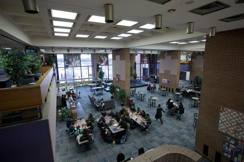 Students are seen at Harper College in Palatine, Illinois, February 21, 2013. REUTERS/John Gress