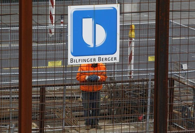 A worker of Bilfinger Berger AG is seen at a construction site of the new Metro line station ''Heumarkt'' in Cologne February 26, 2010. REUTERS/Ina Fassbender