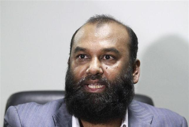 Delwar Hossain, owner of the Tazreen Fashions garment factory, speaks during an interview at the office of the Bangladesh Garment Manufacturers & Exporters Association (BGMEA) in Dhaka in this November 29, 2012 file picture. REUTERS/Andrew Biraj/Files
