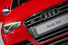 The Audi S3 is presented during the 2013 Los Angeles Auto Show in Los Angeles, California November 20, 2013. REUTERS/Lucy Nicholson