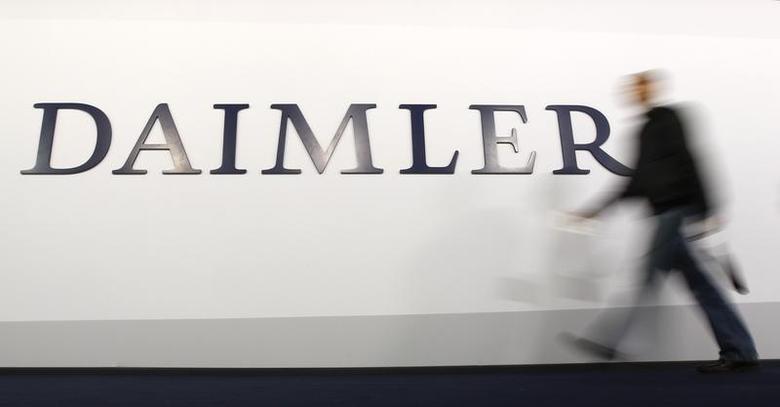 A shareholder arrives to a Daimler AG annual shareholder meeting in Berlin, April 4, 2012. REUTERS/Fabrizio Bensch