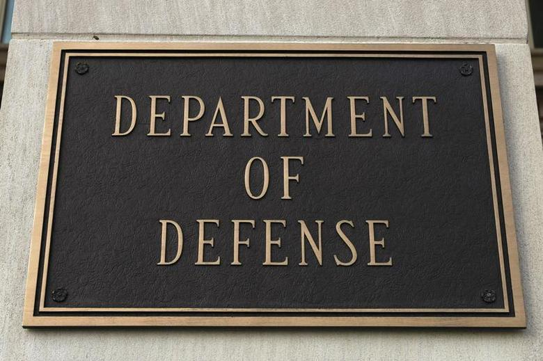A sign at the Department of Defense is pictured at the Pentagon in Washington, March 25, 2010. REUTERS/Hyungwon Kang