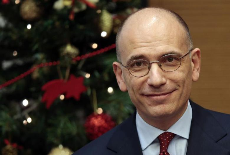 Italian Prime Minister Enrico Letta attends a year end news conference in Rome December 23, 2013. REUTERS/Tony Gentile
