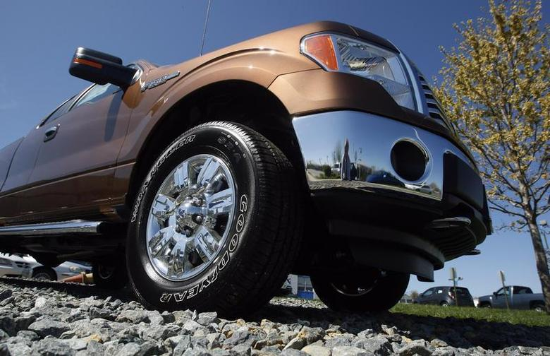 A Ford F-Series pickup truck is seen at Koons Ford in Silver Spring, Maryland April 3, 2012. REUTERS/Gary Cameron