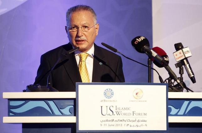 Organization of Islamic Cooperation Secretary General Ekmeleddin Ihsanoglu speaks during the U.S.-Islamic World Forum in Doha June 9, 2013. REUTERS/Mohammed Dabbous
