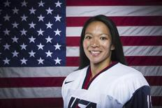 Olympic hockey player Julie Chu poses for a portrait during the 2013 U.S. Olympic Team Media Summit in Park City, Utah October 2, 2013. REUTERS/Lucas Jackson