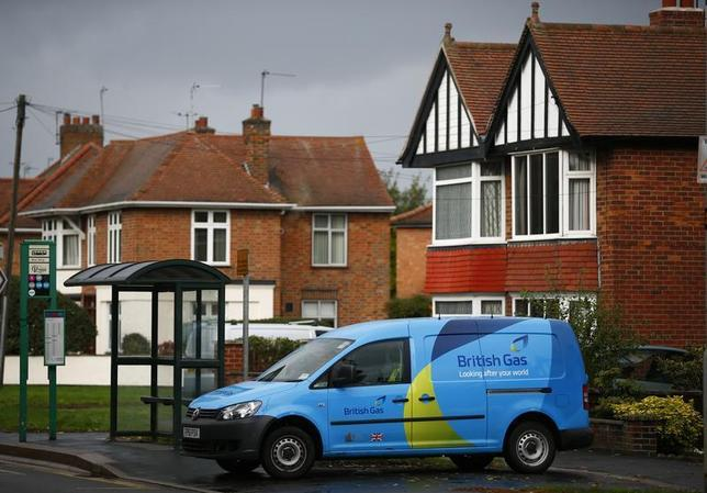 A British Gas van is seen parked outside a home in Loughborough, central England October 17, 2013. REUTERS/Darren Staples