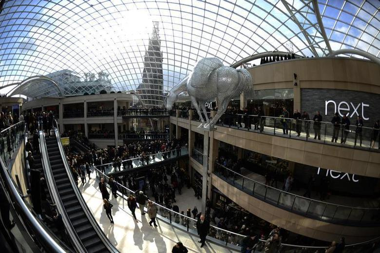 A general view shows the newly opened Trinity shopping centre in Leeds, northern England March 21, 2013. REUTERS/Nigel Roddis