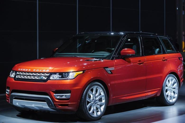 A Range Rover Sport from Land Rover is displayed on stage after an unveiling at the New York International Auto Show in New York, March 27, 2013. REUTERS/Lucas Jackson