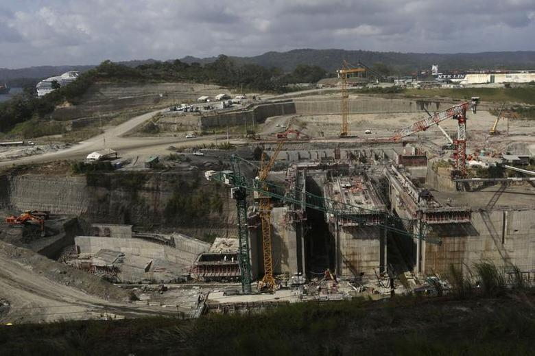 A general view of the construction site of the Panama Canal Expansion project is seen on the outskirts of Colon City January 2, 2014. REUTERS/Carlos Jasso