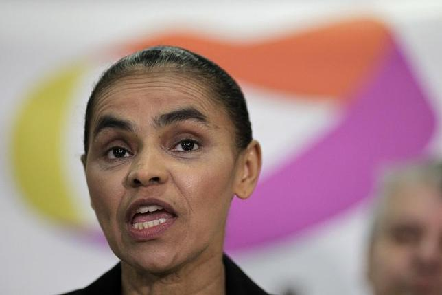 Former Senator Marina Silva speaks during a news conference on her decision to join other parties to run for presidential elections in 2014 in Brazil, in Brasilia October 4, 2013. REUTERS/Ueslei Marcelino