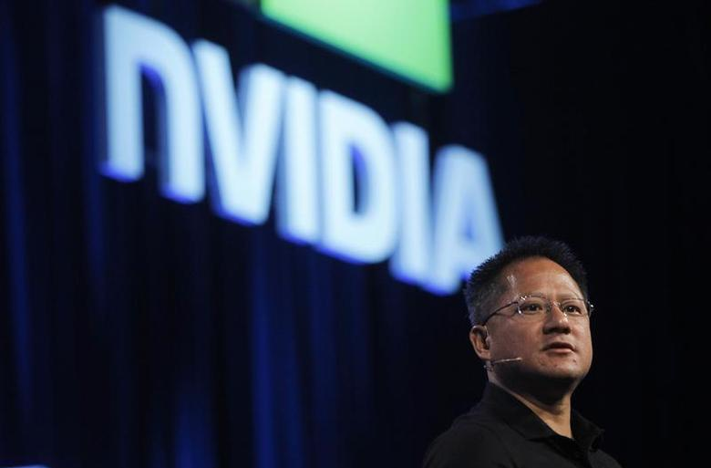 NVIDIA President and CEO Jen-Hsun Huang speaks during his keynote address at the GPU Technology Conference in San Jose, California September 21, 2010. REUTERS/Robert Galbraith/Files