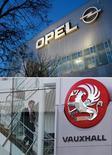 Opel et Vauxhall, les deux marques européennes de General Motors, ont accru leurs parts de marché en Europe l'an dernier grâce au succès de la nouvelle petite citadine Adam qui a compensé le recul global du marché automobile. /Photos d'archives/REUTERS/Ina Fassbender/Stefan Wermuth