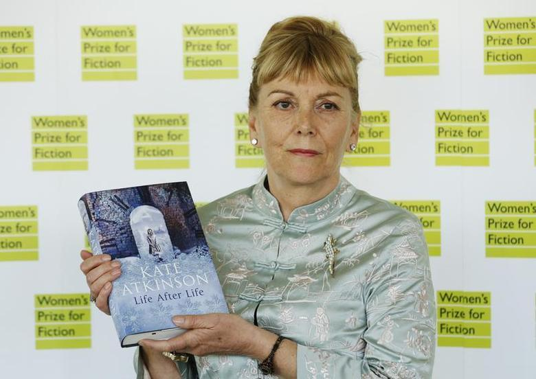 Kate Atkinson, author of ''Life After Life'', poses for photographers before the announcement of the 2013 Women's Prize for Fiction at the Royal Festival Hall in London June 5, 2013. REUTERS/Luke MacGregor