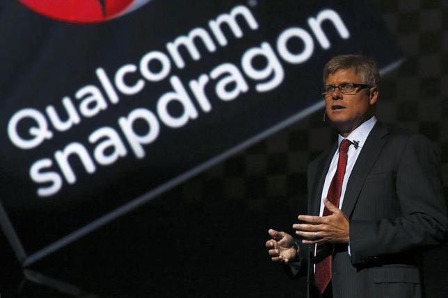 Qualcomm Chief Operating Officer Steve Mollenkopf speaks at the LG G2 smart presentation in New York August 7, 2013. REUTERS/Brendan McDermid