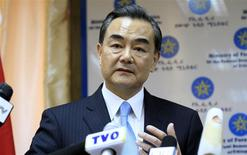 China's Foreign Minister Wang Yi addresses a news conference during his official visit to Ethiopia's capital Addis Ababa, January 6, 2014. REUTERS/Tiksa Negeri