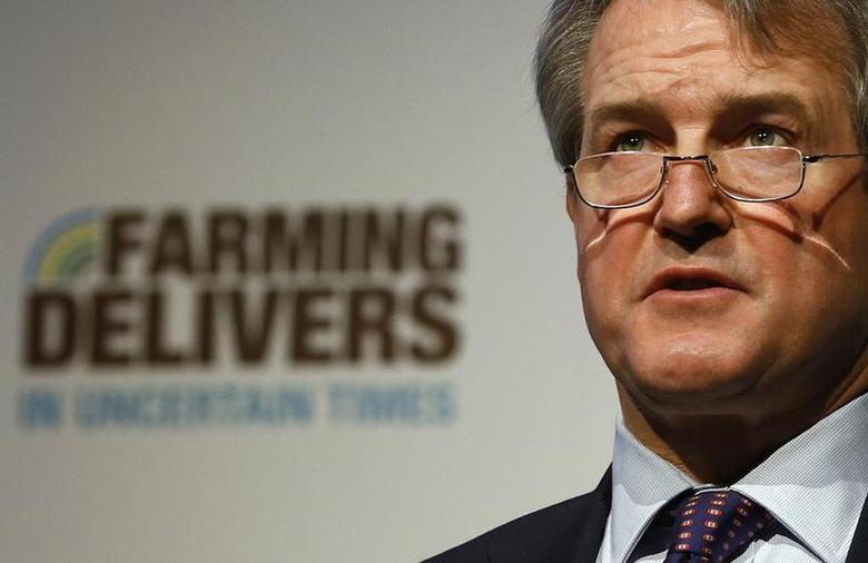 Britain's Environment Secretary Owen Paterson speaks at the National Farmers Union (NFU) conference in Birmingham, central England February 27, 2013. REUTERS/Darren Staples