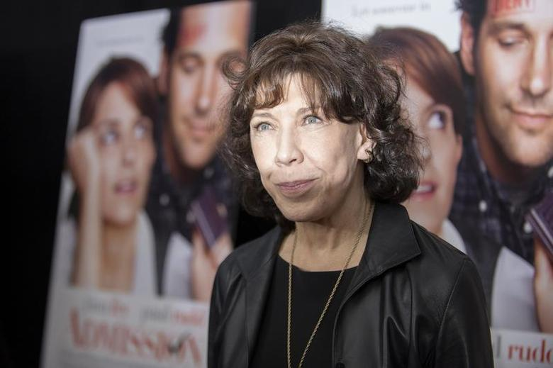 Cast member Lily Tomlin poses at the premiere of ''Admission'' in New York, March 5, 2013. REUTERS/Keith Bedford