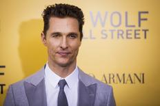 "Cast member Matthew McConaughey arrives for the premiere of the film adaptation of ""The Wolf of Wall Street"" in New York December 17, 2013. REUTERS/Lucas Jackson"