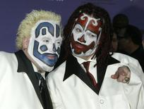 Members of the Insane Clown Posse pose as they arrive at the 2003 Billboard Music Awards at the MGM Grand Garden Arena in Las Vegas, Nevada, December 10, 2003. REUTERS/Fred Prouser