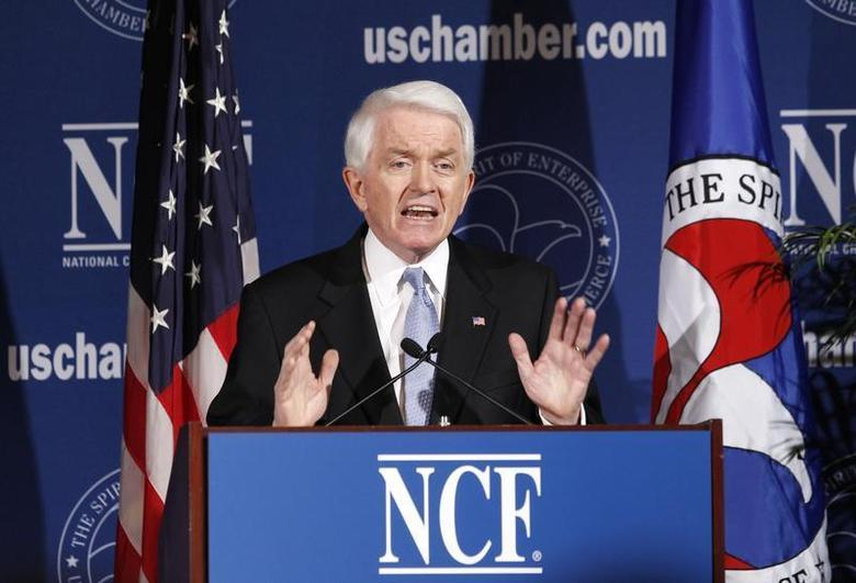 U.S. Chamber of Commerce President and CEO Thomas Donohue speaks in his annual State of American Business address at the U.S. Chamber of Commerce in Washington January 11, 2011. REUTERS/Kevin Lamarque